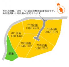 蕨尾の森 区画図